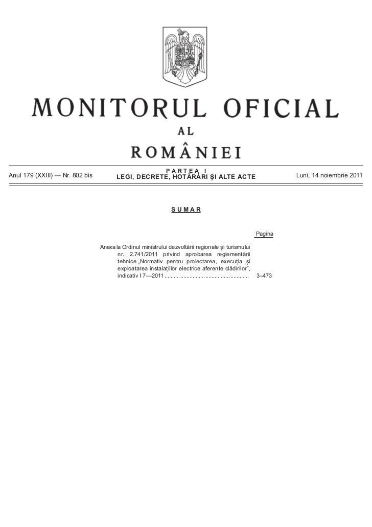 PARTEA IAnul 179 (XXIII) — Nr. 802 bis           LEGI, DECRETE, HOTĂRÂRI ȘI ALTE ACTE                                     ...