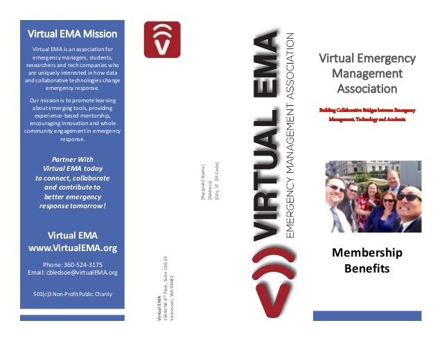 PLACE STAMP HERE Virtual EMA Mission Virtual EMA is an association for emergency managers, students, researchers and tech ...
