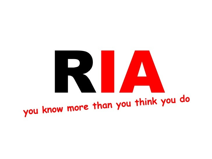 R you know more than you think you do  IA