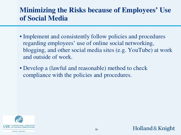 Employee Posts on Facebook, Twitter, Blogs, and Other Social Media