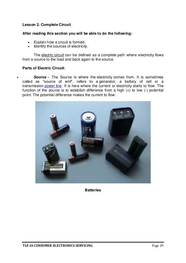 Lesson 2 How To Use A Battery Lesson 3 How To Make A Complete Circuit