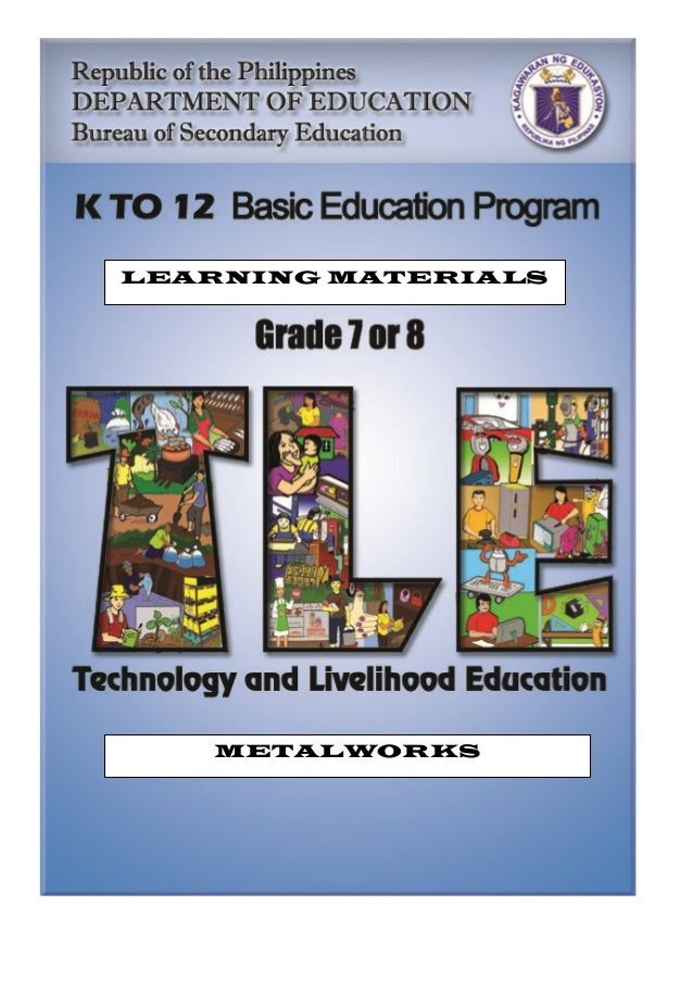 Table of Contents LEARNING MATERIALS METALWORKS