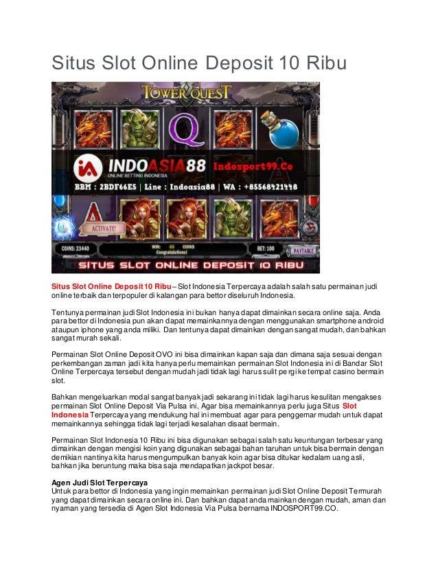 Situs Slot Online Deposit 10 Ribu Indosport99 Co