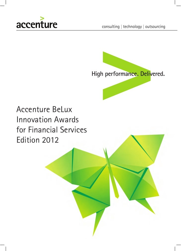 Accenture BeLuxInnovation Awardsfor Financial ServicesEdition 2012