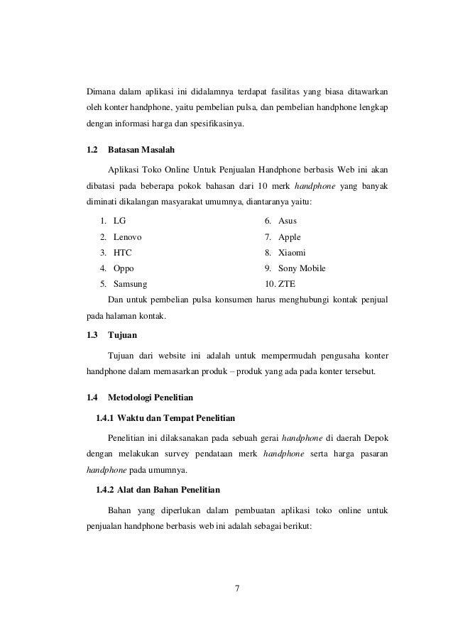 Proposal Usaha Jasa Pembuatan Web Untuk Konter Handphone