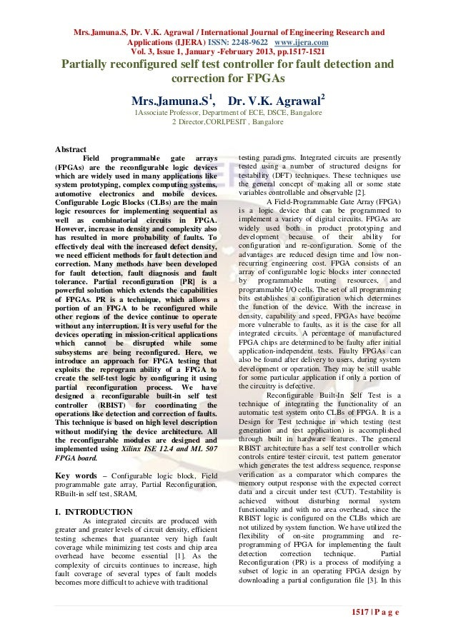 Mrs.Jamuna.S, Dr. V.K. Agrawal / International Journal of Engineering Research and                   Applications (IJERA) ...