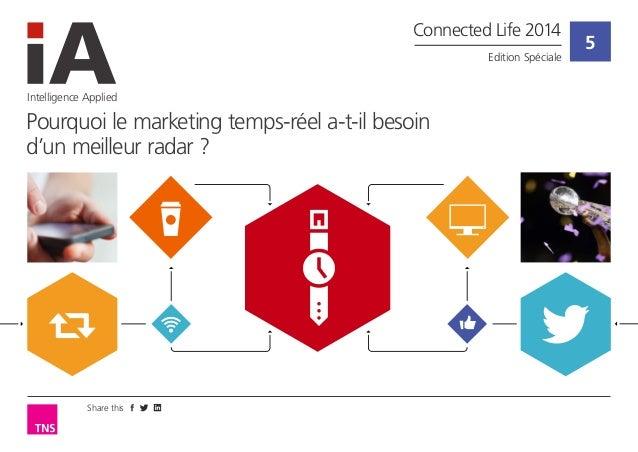Share this  5  Intelligence Applied  Pourquoi le marketing temps-réel a-t-il besoin d'un meilleur radar ?  Connected Life ...