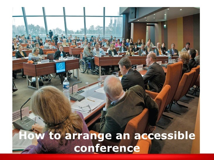How to arrange an accessible conference