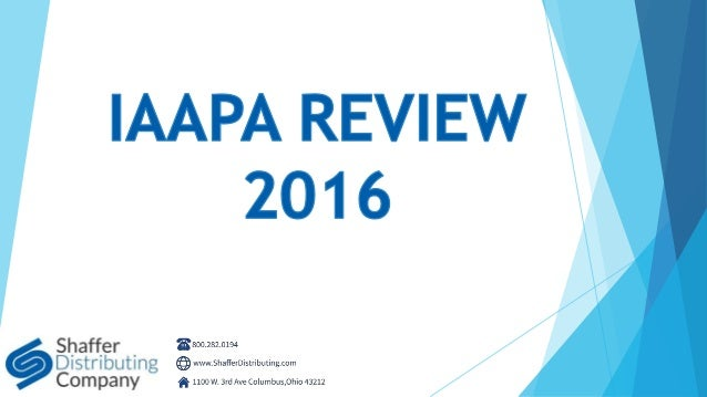 Shaffer Distributing Company - IAAPA Review 2016