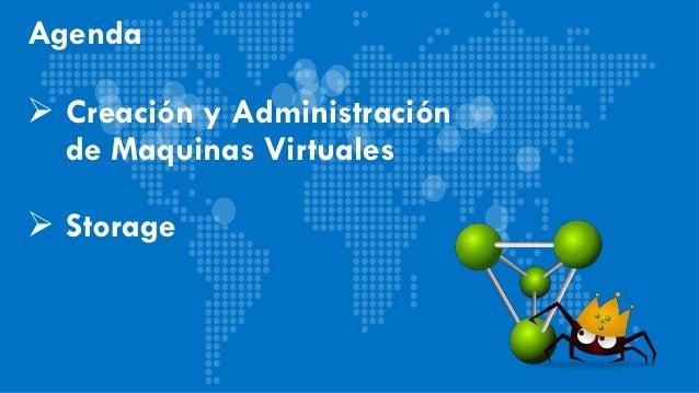 Agenda  Creación y Administración de Maquinas Virtuales  Storage