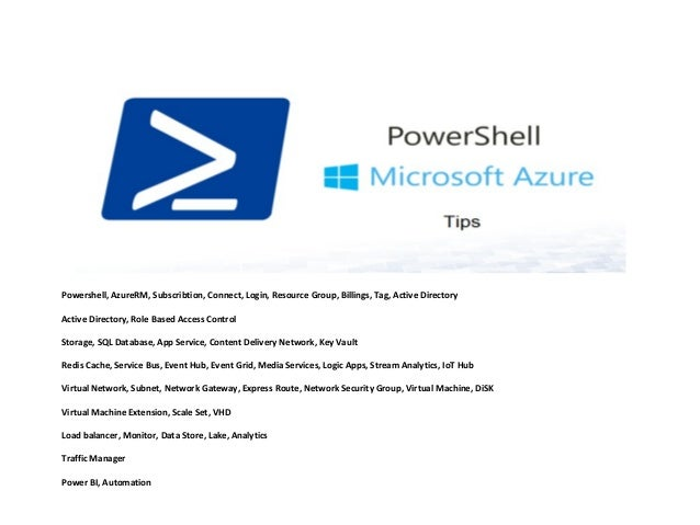 Azure Powershell Tips