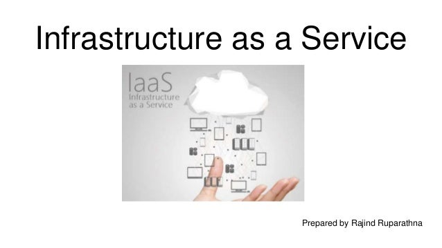 Infrastructure as a Service Prepared by Rajind Ruparathna
