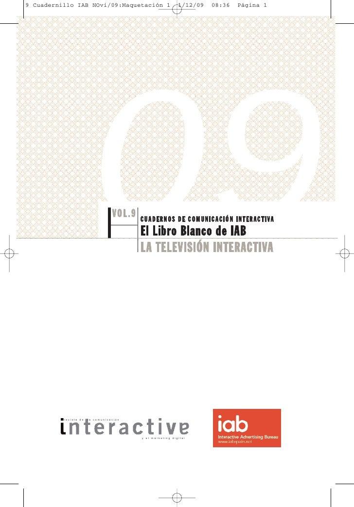 9 Cuadernillo IAB NOvi/09:Maquetación 1                     1/12/09   08:36   Página 1                             09     ...