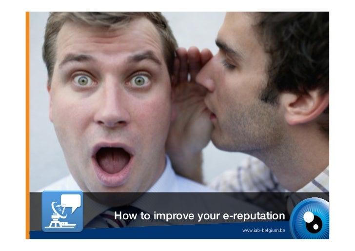 How to improve your e-reputation