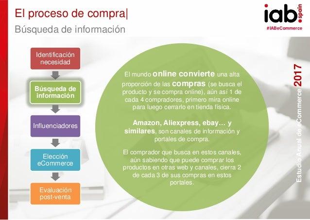 #IABeCommerce ELABORADO POR: PATROCINADO POR: EstudioAnualdeeCommerce2017 25 EstudioAnualdeeCommerce2017 Búsqueda de infor...