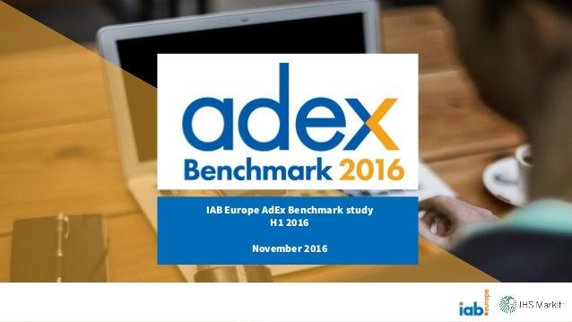 IAB Europe AdEx Benchmark study H1 2016 November 2016