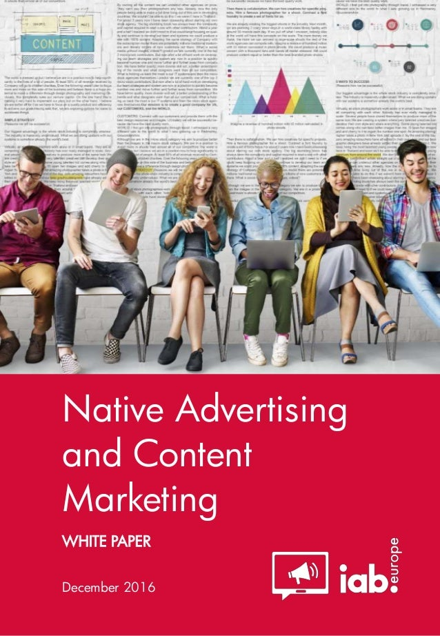 WHITE PAPER Native Advertising and Content Marketing December 2016