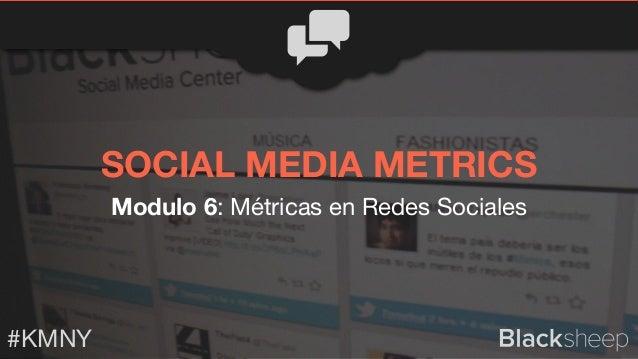 Modulo 6: Métricas en Redes Sociales #KMNY SOCIAL MEDIA METRICS