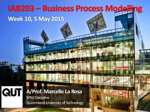 CRICOS No. 00213J a university for the worldreal R 1 A/Prof. Marcello La Rosa BPM Discipline Queensland University ofTechn...