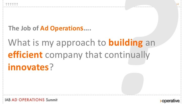 IAB Ad Operations Summit- The Impact of Consolidation on Operational …