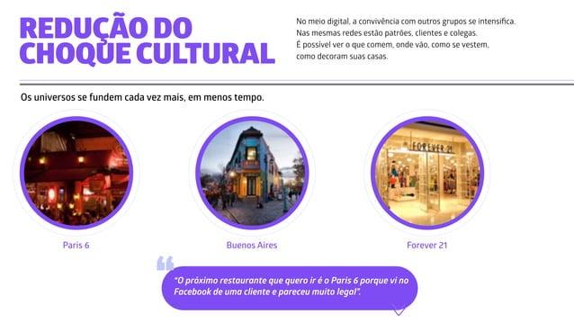 Paris 6 Buenos Aires Forever 21 No meio digital, a convivência com outros grupos se intensifica. Nas mesmas redes estão pat...