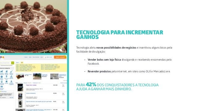 Tecnologia abriu novas possibilidades de negócios e incentivou alguns bicos pela facilidade de divulgação: - Vender bolos ...