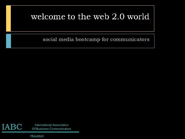 social media bootcamp for communicators