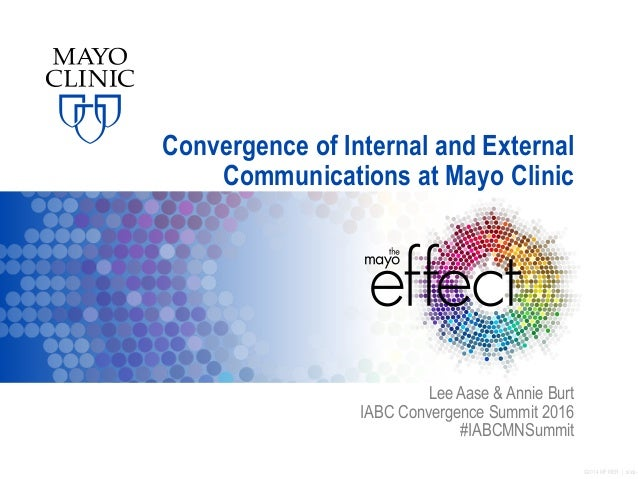 ©2014 MFMER | slide- Convergence of Internal and External Communications at Mayo Clinic Lee Aase & Annie Burt IABC Converg...