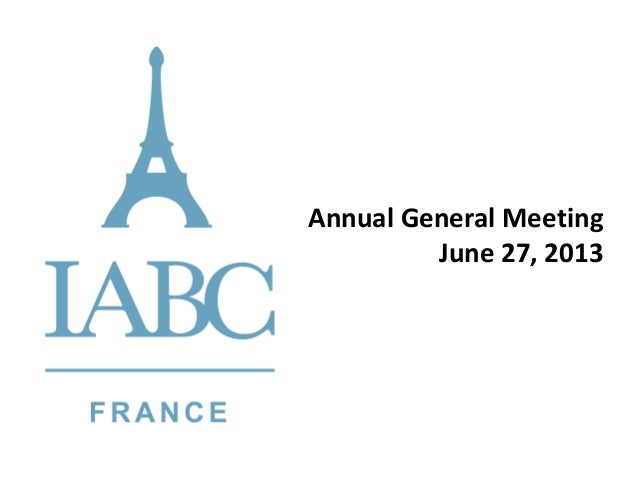 Annual General Meeting June 27, 2013