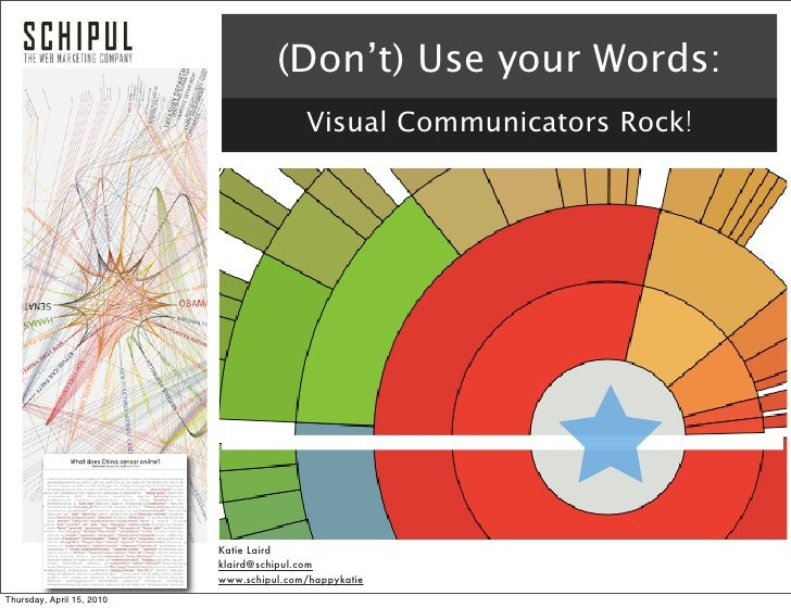 (Don't) Use your Words:                                           Visual Communicators Rock!                              ...