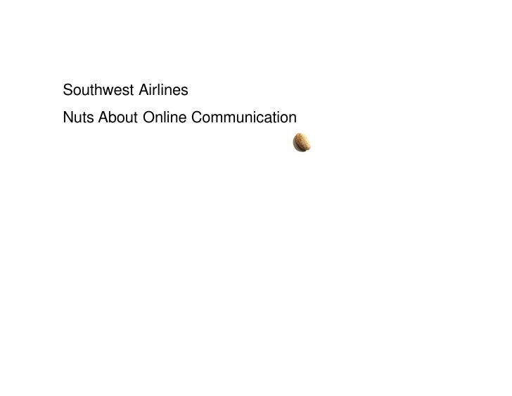Southwest Airlines Nuts About Online Communication