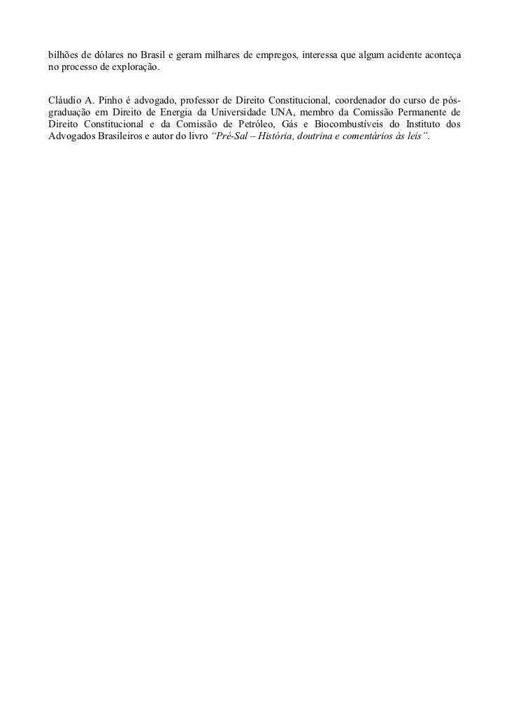 Royalties, Chevron e Estado de Direito Slide 2