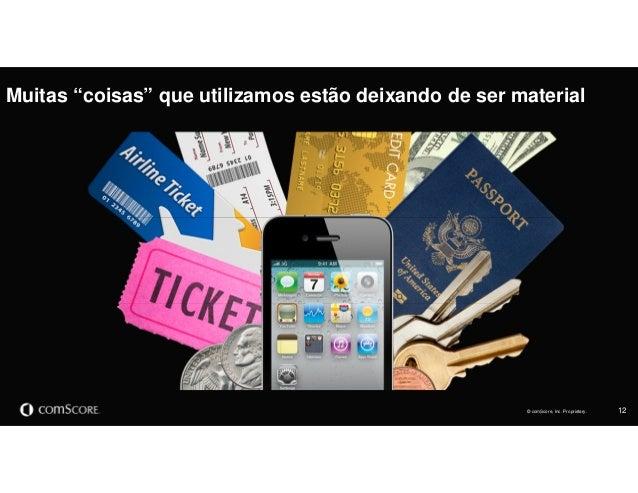 """© comScore, Inc. Proprietary. 12© comScore, Inc. Proprietary. Muitas """"coisas"""" que utilizamos estão deixando de ser material"""