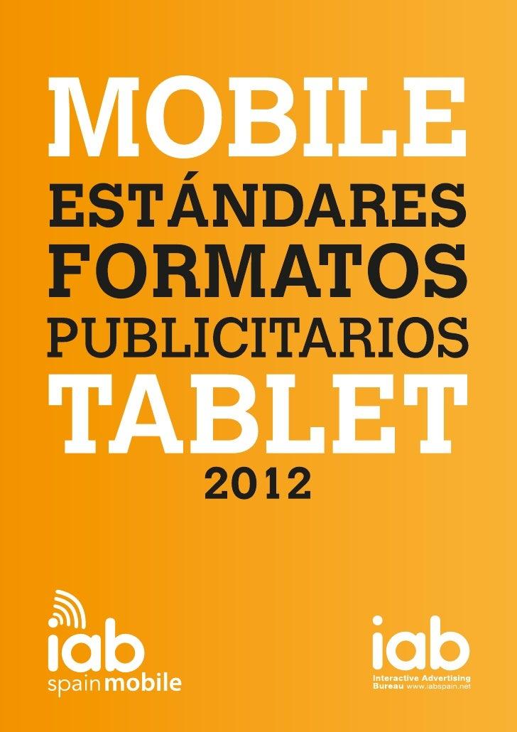 Iab Estandares Formatos Mobile Tablet 2012