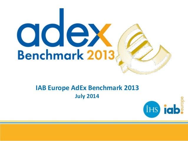 IAB Europe AdEx Benchmark 2013 July 2014