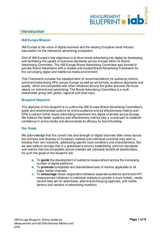 Blue print iab europe mesure d 39 audience et efficacit for Blueprint online