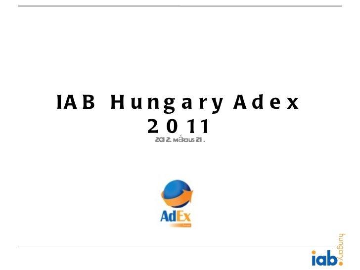 IA B H u n g a r y A d e x         22012. március21.             0 11