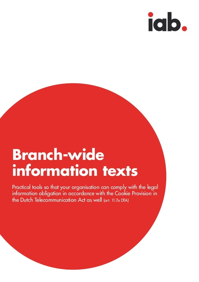 Branch-wideinformation textsPractical tools so that your organisation can comply with the legalinformation obligation in a...