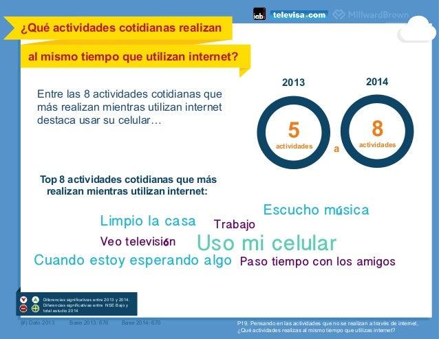 ¿Qué actividades cotidianas realizan al mismo tiempo que utilizan internet?    Top 8 actividades cotidianas que más real...