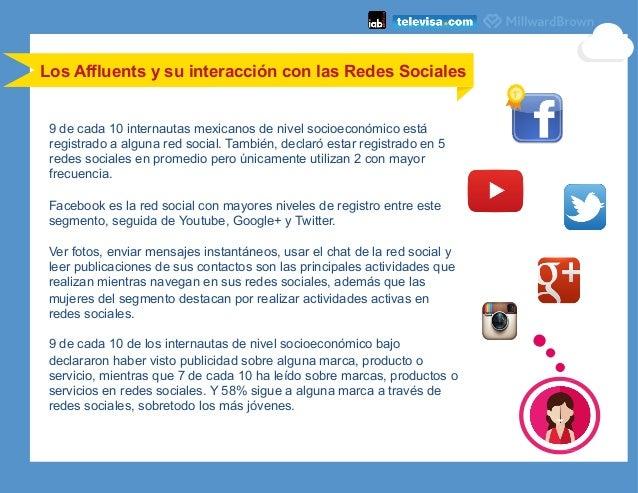 9 de cada 10 internautas mexicanos de nivel socioeconómico está registrado a alguna red social. También, declaró estar reg...
