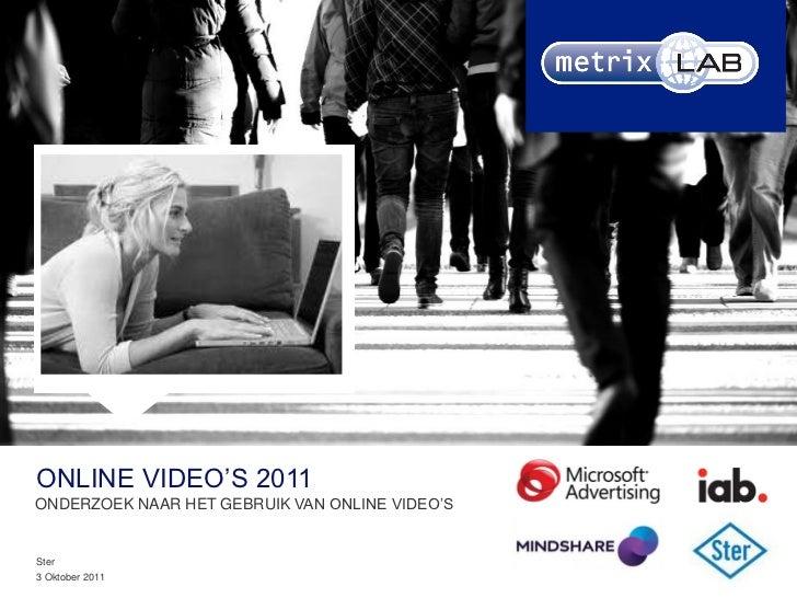 Bijv afbeelding TVCONLINE VIDEO'S 2011ONDERZOEK NAAR HET GEBRUIK VAN ONLINE VIDEO'S                                       ...