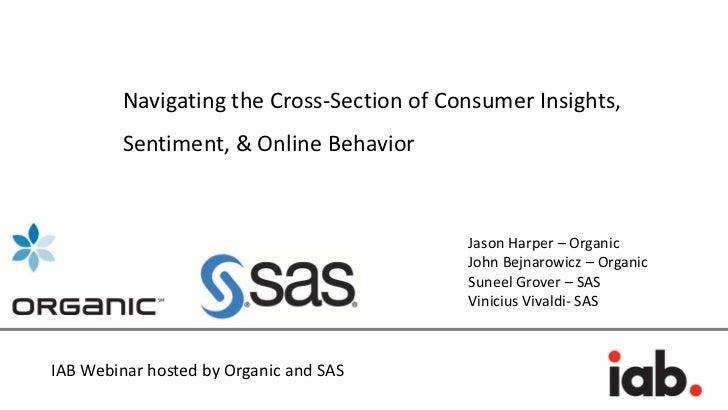 Navigating the Cross-Section of Consumer Insights,         Sentiment, & Online Behavior                                   ...