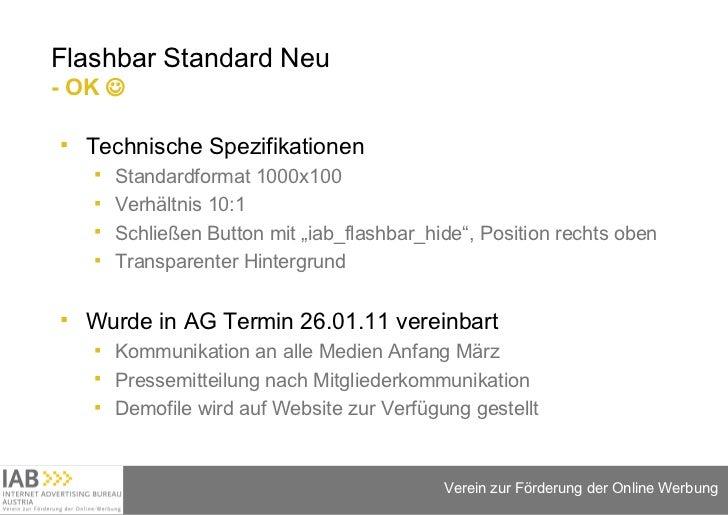 Flashbar Standard Neu  - OK   <ul><li>Technische Spezifikationen </li></ul><ul><ul><li>Standardformat 1000x100 </li></ul>...