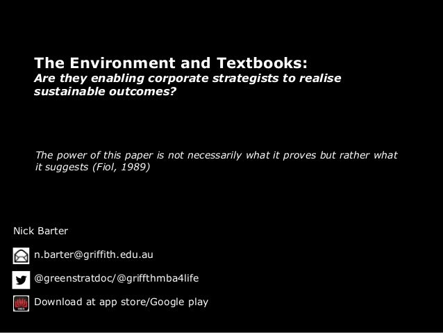 The Environment and Textbooks - Exploring the Perpetual Dualism