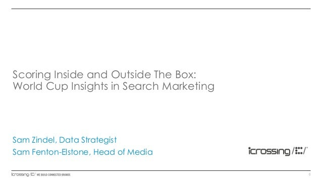 Scoring Inside and Outside The Box: World Cup Insights in Search Marketing  Sam Zindel, Data Strategist Sam Fenton-Elstone...