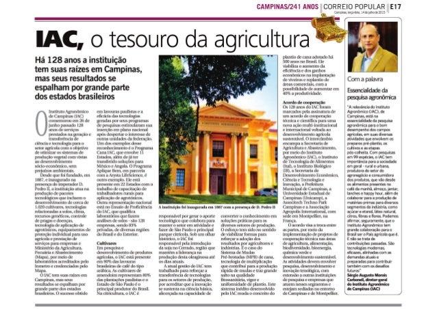 IAC, o tesouro da agricultura