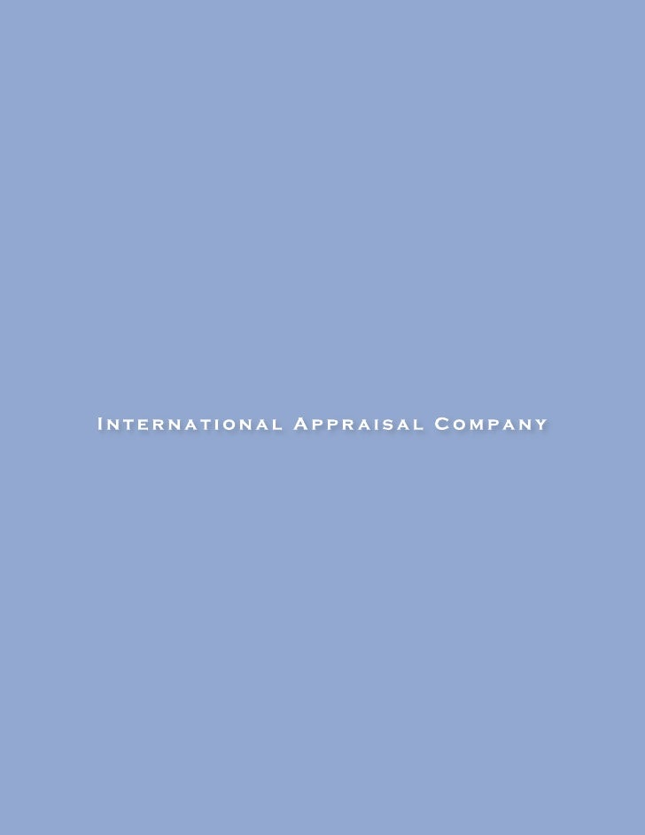 International Appraisal Company has been providing  valuation and state and local tax advisory services throughout the cou...