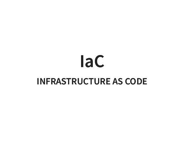 Infrastructure as Code Slide 2