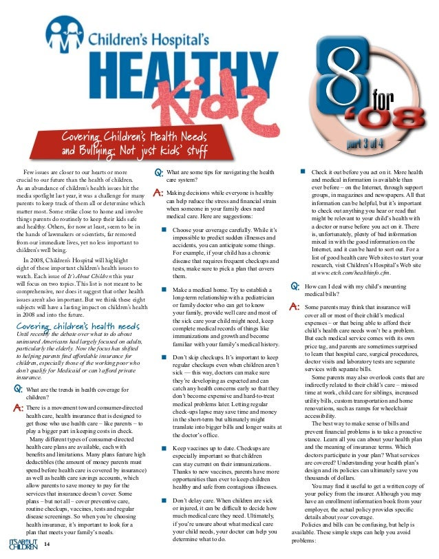 It's About Children - Fall 2008 Issue by East Tennessee Children's Ho…
