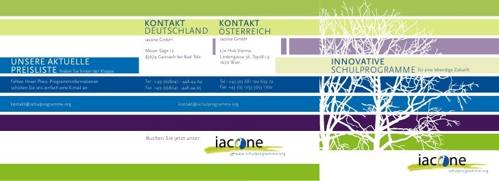 Iacone - Innovative Schulprogramme für eine lebendige Zukunft